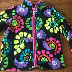 Carters Girls floral fleece
